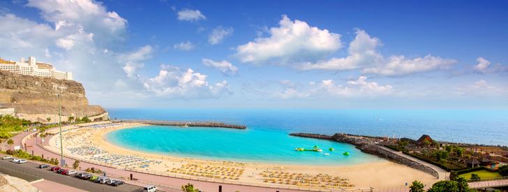Amadores aqua beach in Gran Canaria at Canary Islands